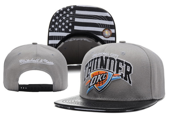 Oklahoma City Thunder Grey Snapback Hat XDF 0617
